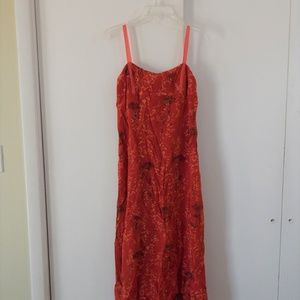 red ARMANI EXCHANGE dress sundress floral 2